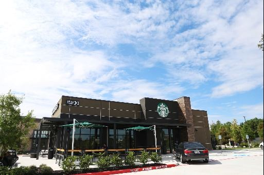 Exterior of Starbucks