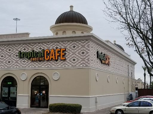 Exterior of Tropical Smoothie Cafe